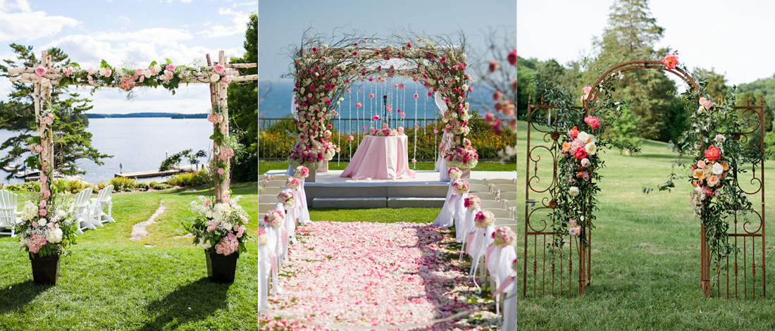 Wedding arch ideas you 39 ll fall in love with the koch blog for Arch wedding decoration ideas