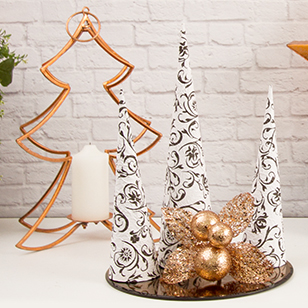 copper and black christmas