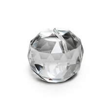 Name Card Holder Crystal Ball Large 40mmD Clear