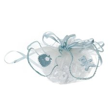 Baby Gift Pouch Organza with Bear Pk12 Baby Blue