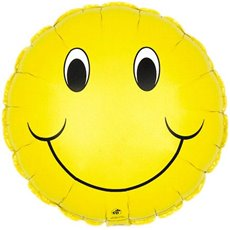 Balloon 18 Round Foil Smiley Face