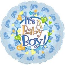 """Balloon 9"""" Round Boy Girl Footsies"""