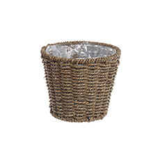 Planter Seagrass Round 17.5Dx15cmH Natural