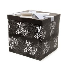 Gift Box Folded Extra Large 255x255x250mmH Camellia Black