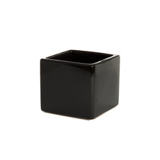 Ceramic Bondi Cube 13x13x12cmH Single Black
