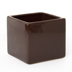 Ceramic Bondi Cube 13x13x12cmH Single Choc