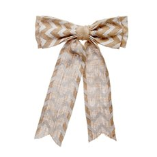 Jute Bow with Chevron Pattern Beige (25x35cmH)