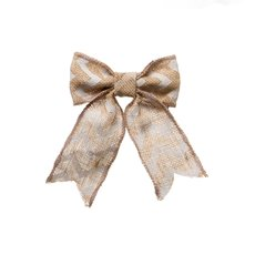 Jute Bow with Chevron Pattern Beige 2 Pack (14x18cmH)