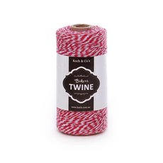 Bakers Twine 4ply 1mm X 219m Red/White