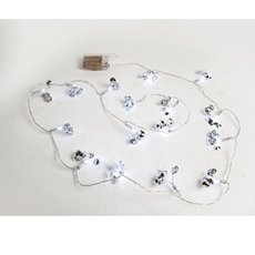 LED Fairy Lights Diamante Flower 16 Lights 3m 3AA