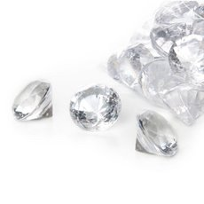 Acrylic Diamond Scatters X-Large 38mm 400g Bag Clear