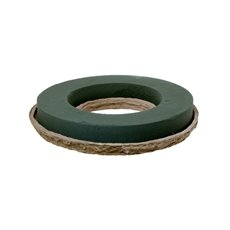 Foam Wreath Open Ring with Paper Mache Tray 2 Pack (24cmD)