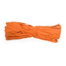 Paper Raffia 100Pce/4mmx135cm Orange