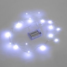 LED Seed Fairy Lights 20Lights 2m Copper Wire 3AA Pure White