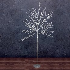 LED Tree Globe Light 1.5m 200L 240V White With Silver Base