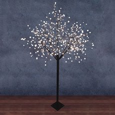 LED Tree Globe Light 2.5m 500L 240V Brown