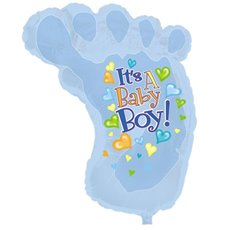 Balloon 34 Foot Shape Foil Its A Boy Baby Foot