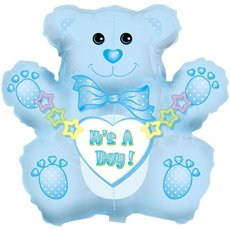 Balloon 32 Bear Shape Foil Its A Boy Bear