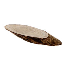 Natural Wood Slice Oval (36x14x2.5cmH)