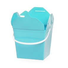 Food Pail Noodle Box Medium 9x7.5x8.5cmH pk5 Baby Blue