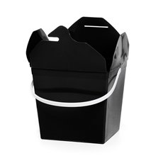 Food Pail Noodle Box Medium 9x7.5x8.5cmH pk5 Black