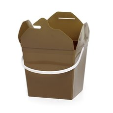 Food Pail Noodle Box Medium 9x7.5x8.5cmH pk5 Gold