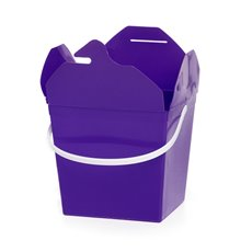 Food Pail Noodle Box Medium 9x7.5x8.5cmH pk5 Purple