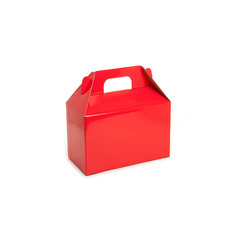Gable Box Flat Pack Medium 21.5x12x14cm Red