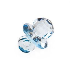 Charm Dummy 38x28mm pk6 Large baby blue