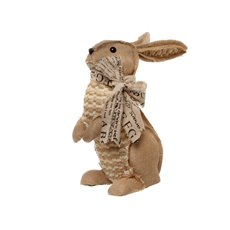 Decorative Jute Rabbit Beige (14cmx27cmH)