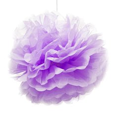 Hanging Tissue Pom Pom Purple (50cmD)