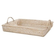 Basket Storage Rectangle w/Handles PC 40x30x6cmH Natural