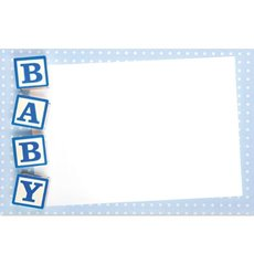 Cards Baby Blocks Blue PK50