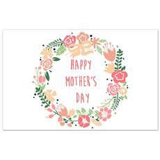 Cards Vintage Happy Mothers Day Soft Pink PK50 (10x6.5cmH)