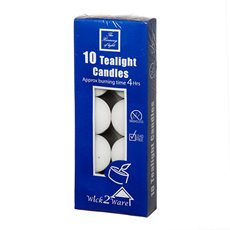 Candle Tealight 4Hr x10PC White