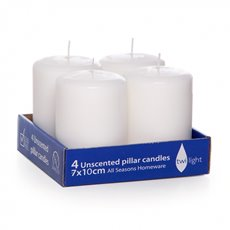 Candle Church Pillar 7cmx10cmH (50HR) Pkt 4 White