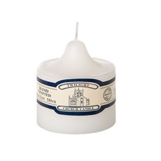 Candle Church Pillar 9cmx9.5cmH (58HR) White