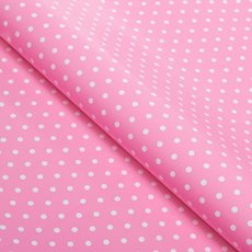 Counter Roll 80gsm Polka Dots 50cmx60m Glossy White on Pink