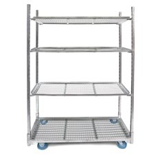 Plant & Flower Trolley with 3 Mesh Shelves (130x56x190cmH)