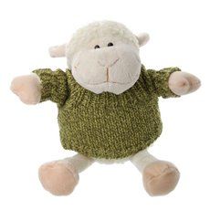 Sheep Lambert 25cm.HT White W/Jumper Green