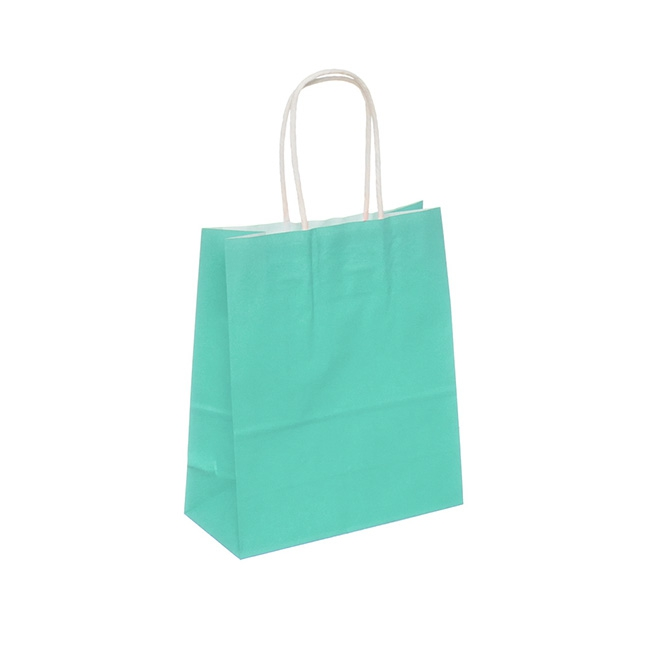 Kraft Paper Bag Medium Tiffany Blue (215x180x85mmD)