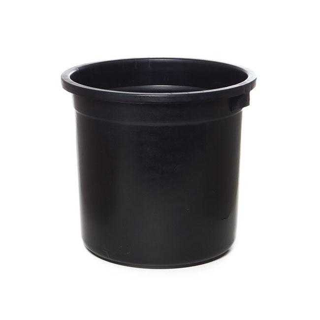Flower Bucket Plastic Round 16l 30dx28cmh Black