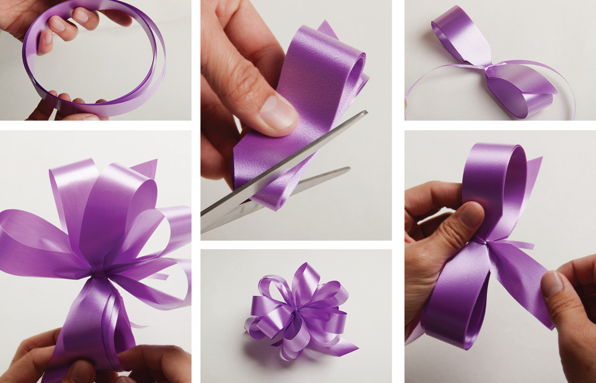 How to make a ribbon pom pom bow
