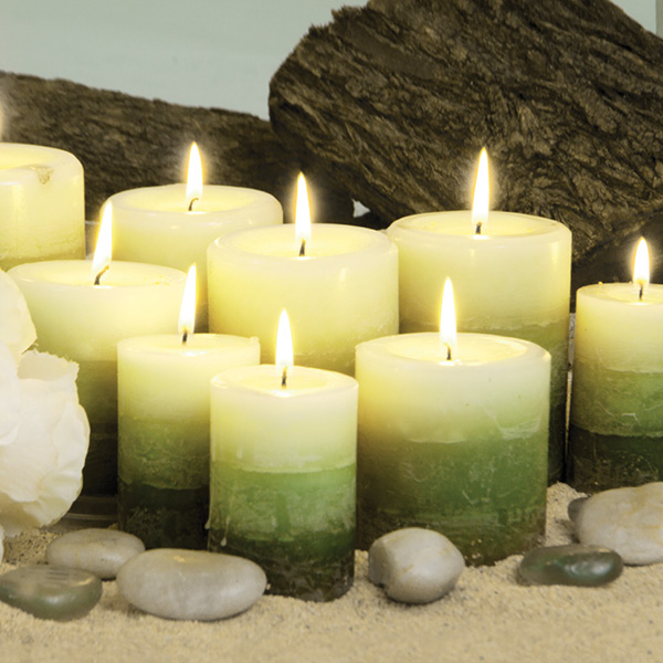 Green scented candles