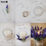 how to decorate pillar candles with lavender: a step by step guide