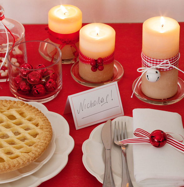 Christmas scented candles to pair with your Christmas menu.