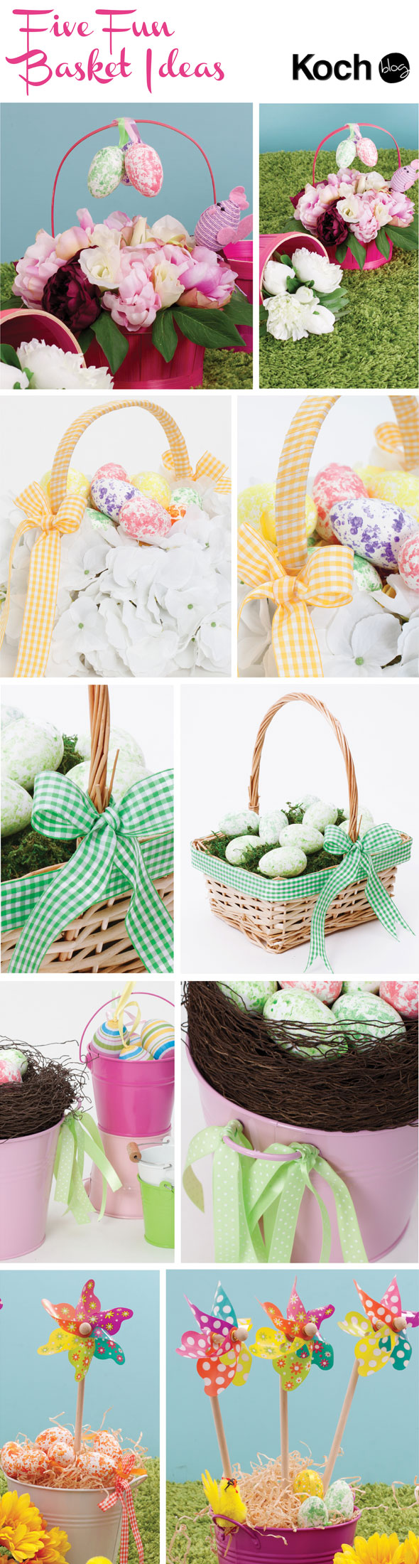 Diy easter egg hunt baskets the koch blog diy easter basket and hamper inspirations negle Images