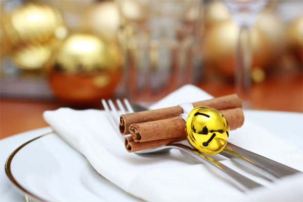 Cinnamon Tied with Gold Bell
