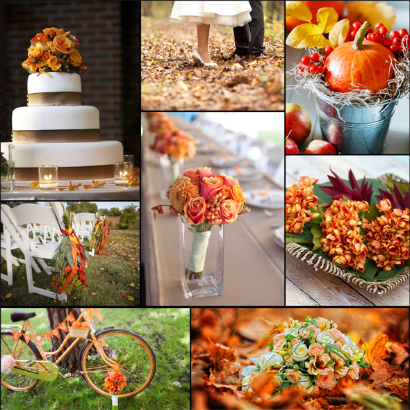 Old Fashioned Fall Themed Wedding Ideas Elaboration - Wedding Dress ...