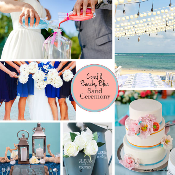 a sand ceremony is perfect for a beach themed wedding